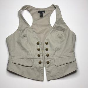 H&M Khaki Women's Casual Vest size 6
